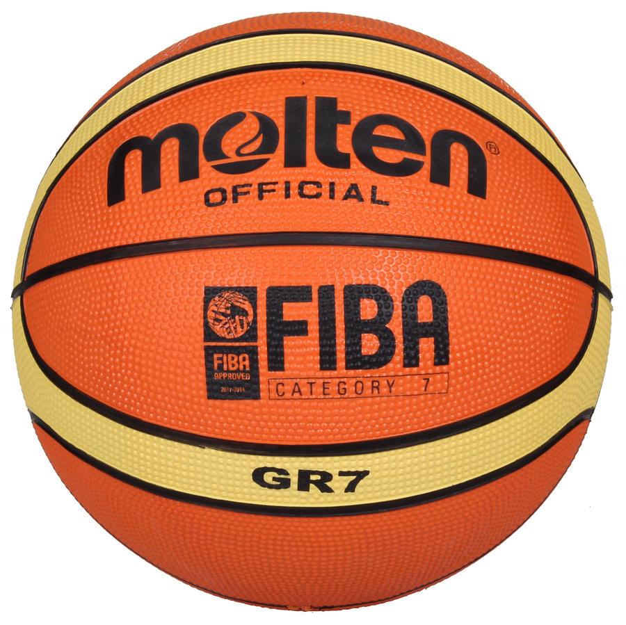 Oranžový basketbalový míč BGR7, Molten - velikost 7