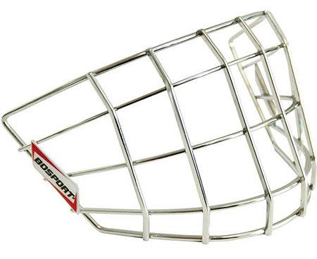 Stříbrná brankářská hokejová mřížka Bosport