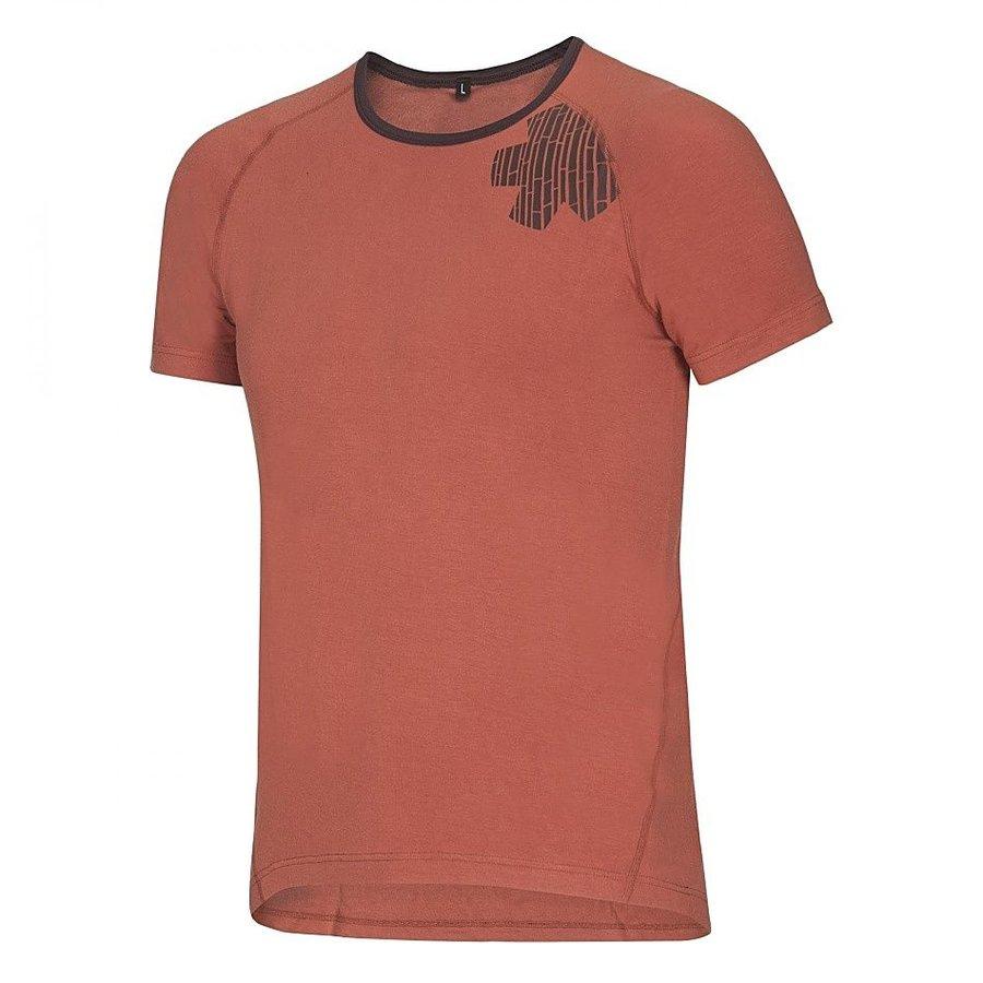 Oranžové pánské turistické tričko s krátkým rukávem Ocún