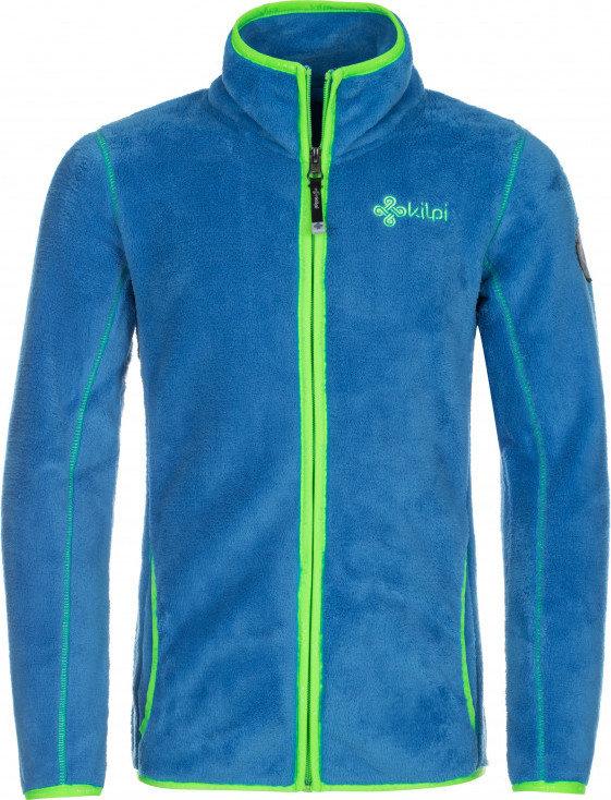 Modrá chlapecká lyžařská mikina bez kapuce Kilpi