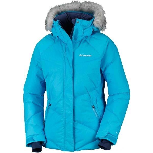 Modrá zimní dámská bunda Columbia