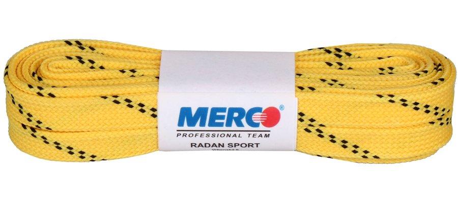 Žluté tkaničky do hokejových bruslí Merco