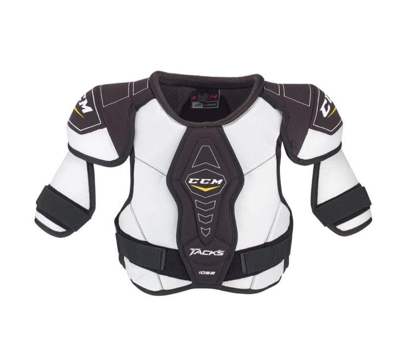 Bílý hokejový chránič ramen - senior CCM - velikost M