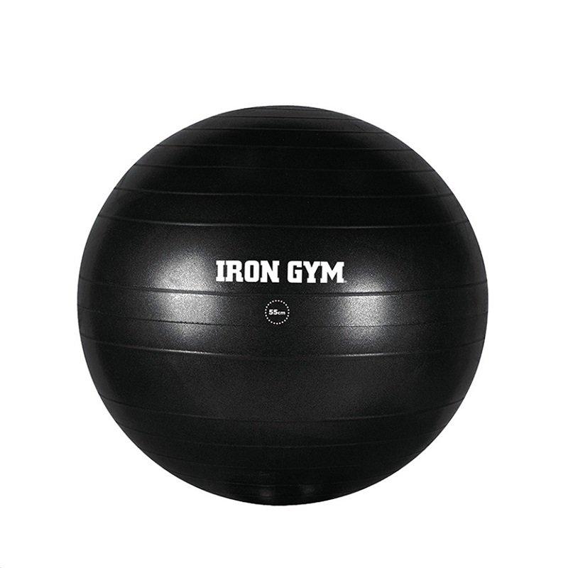 Černý gymnastický míč s pumpou Exercise Ball, Iron Gym - průměr 65 cm