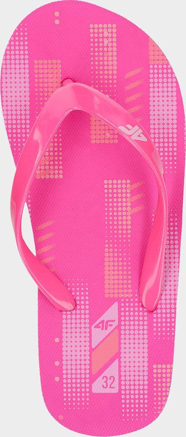 Růžové dívčí žabky 4F - velikost 36 EU