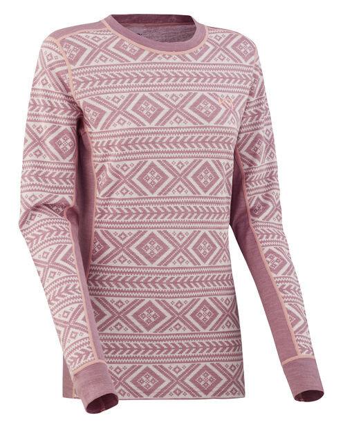 Růžové dámské funkční tričko s dlouhým rukávem Kari Traa
