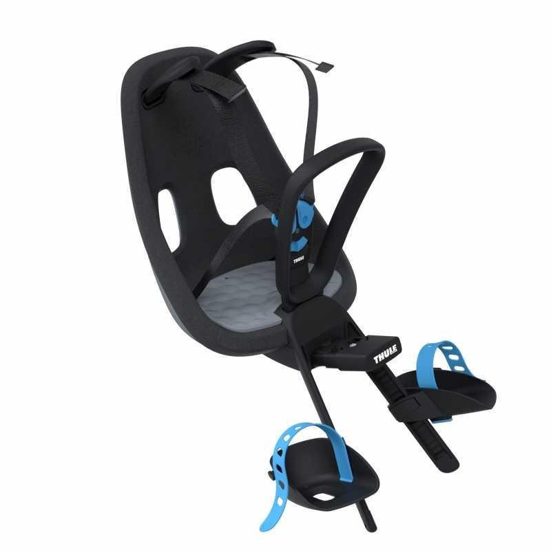 Černá dětská sedačka na kolo přední umístění Thule - nosnost 15 kg