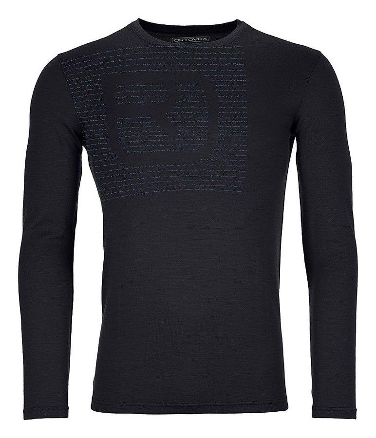 Černé pánské termo tričko s dlouhým rukávem Ortovox - velikost M