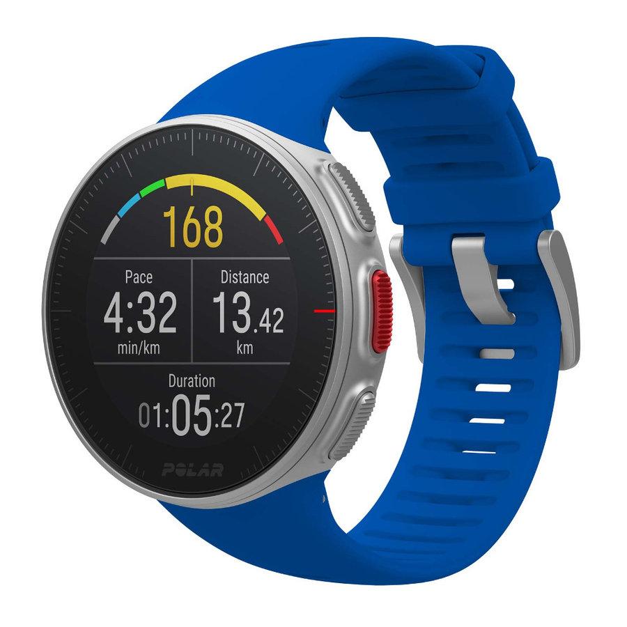 Modré sportovní chytré hodinky Vantage V, Polar