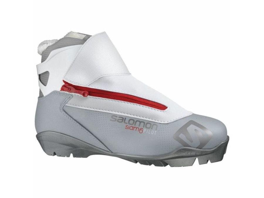 Bílo-šedé dámské boty na běžky Salomon