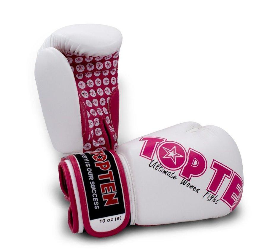 Bílé boxerské rukavice Top Ten - velikost 10 oz