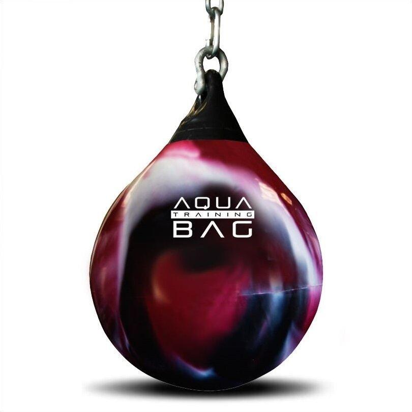 Černo-červený vodní boxovací pytel Aqua Training Bag - 35 kg