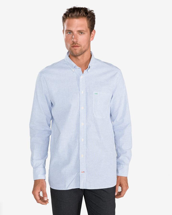 Modrá pánská košile s dlouhým rukávem Tommy Hilfiger - velikost L
