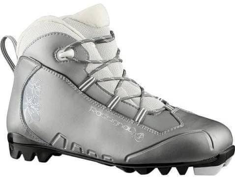 Stříbrno-šedé boty na běžky Rossignol