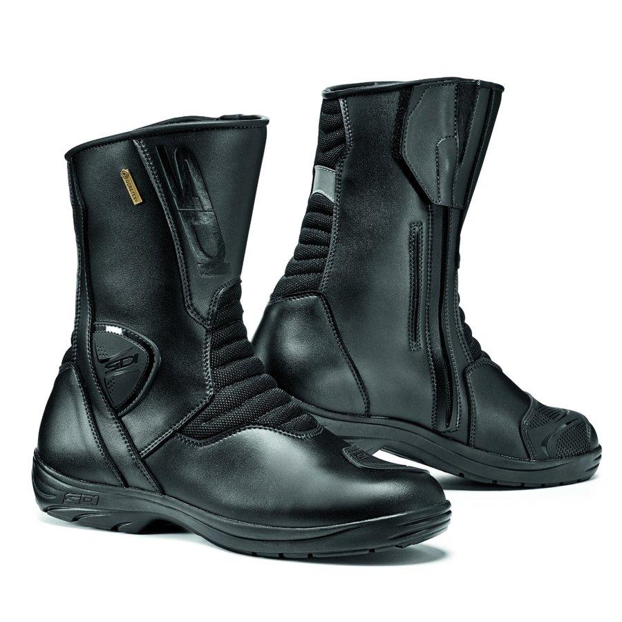 Černé vysoké pánské motorkářské boty Gavia Gore, SIDI