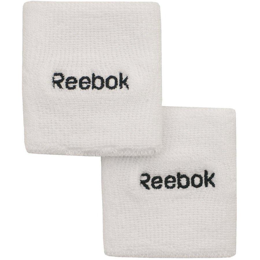 Bílé potítko Reebok - 2 ks