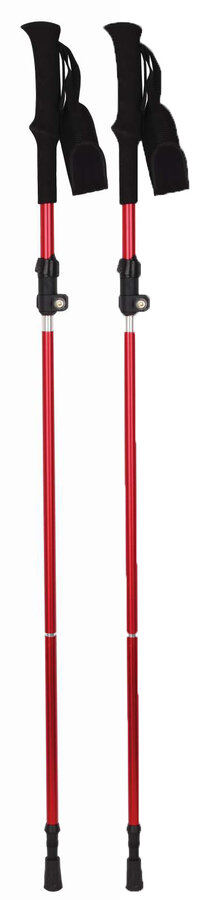 Červená trekingová hůl SLADE, Husky - délka 130 cm