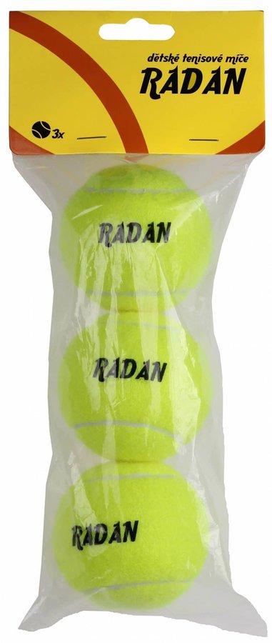 Tenisový míček - Radan dětské tenisové míče, 3 ks balení: 3 ks
