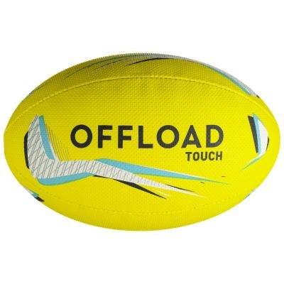 Žlutý míč na ragby Touch 500, Offload - velikost 4