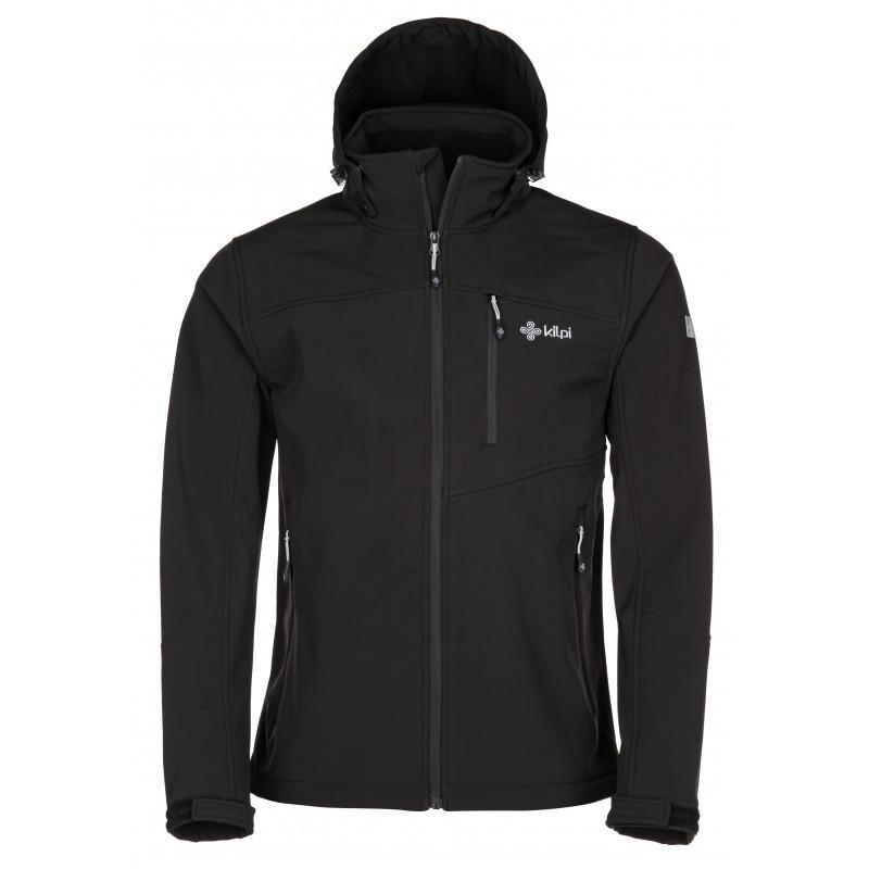 Černá softshellová pánská bunda Kilpi - velikost S