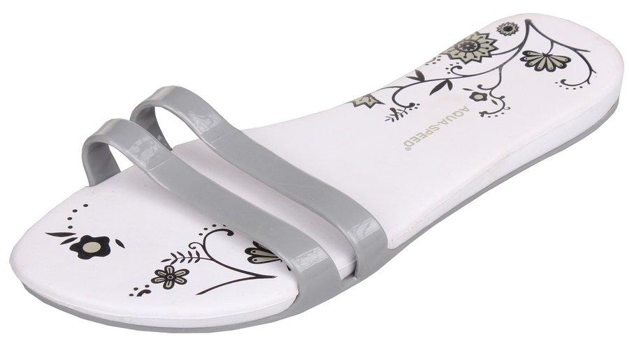 Bílé dámské pantofle Aqua-Speed - velikost 35 EU