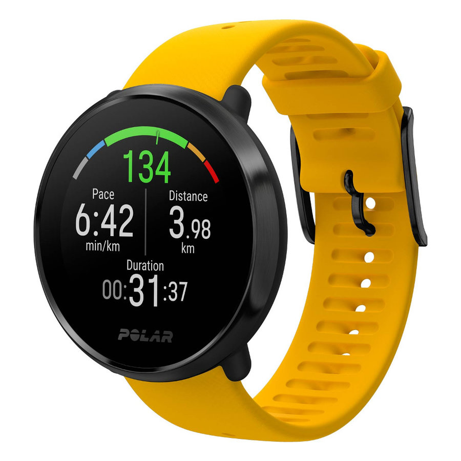 Žluté sportovní chytré hodinky Ignite, Polar