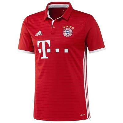"""Červený dětský fotbalový dres """"FC Bayern Mnichov"""", Adidas - velikost 133"""