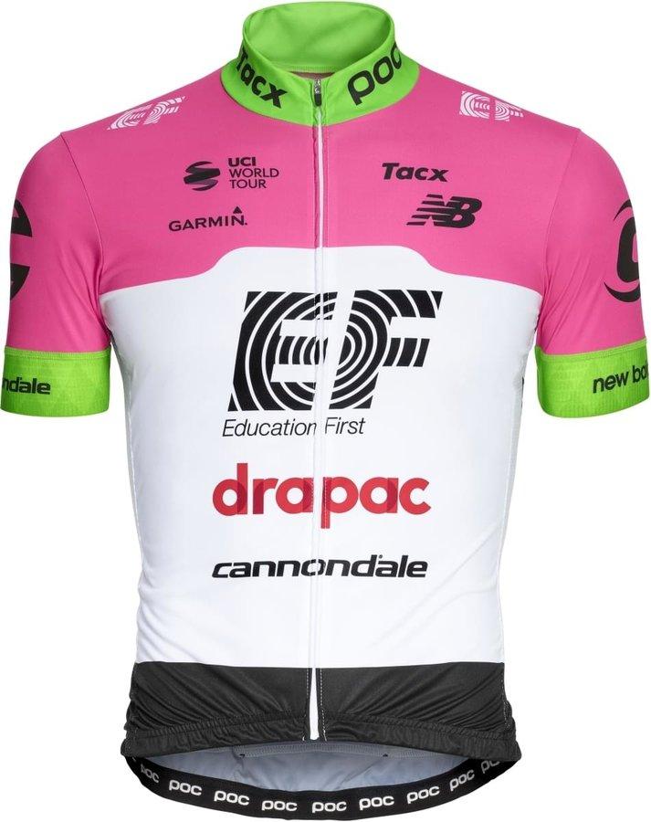 Bílo-růžový pánský nebo dámský cyklistický dres POC - velikost L