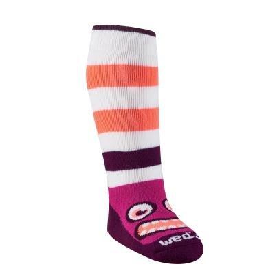 Bílo-fialové unisex ponožky Wed'ze - velikost 23-26 EU