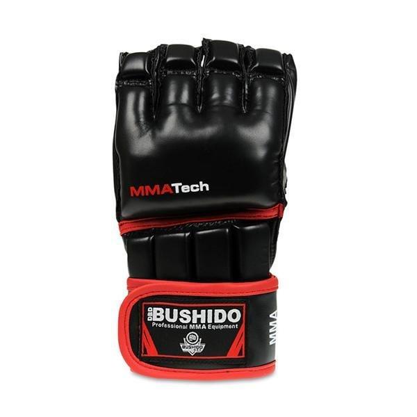 Černo-červené MMA rukavice Bushido - velikost L