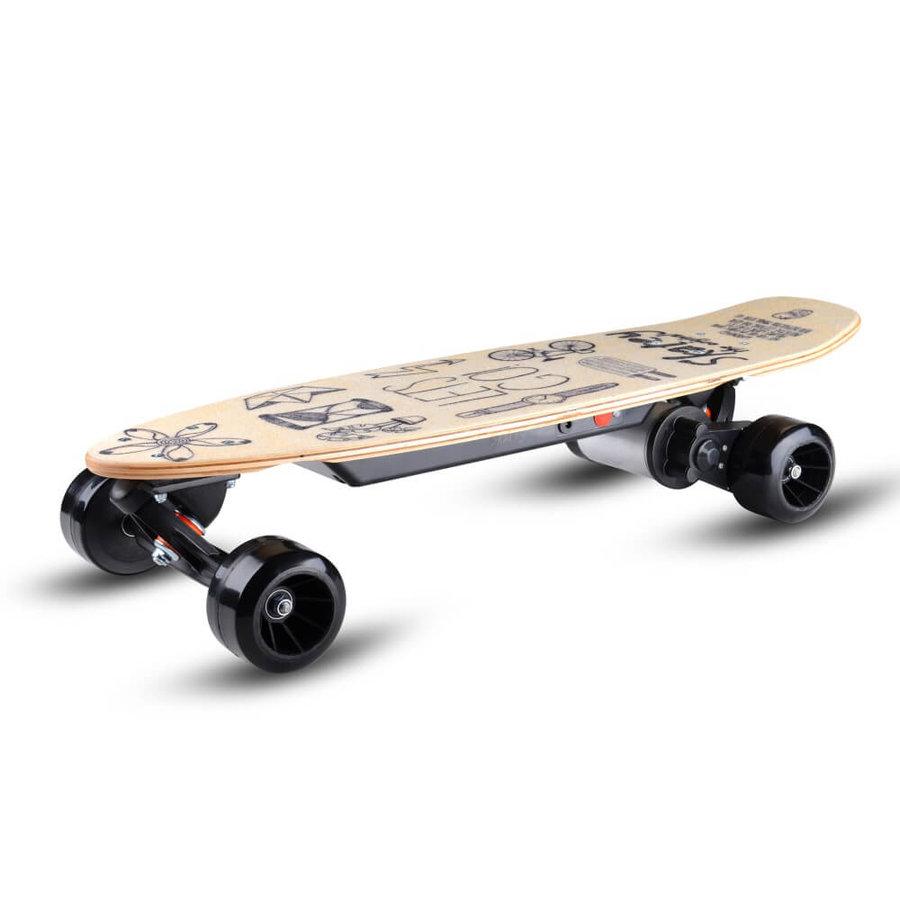 Béžový elektro skateboard 150L, Skatey