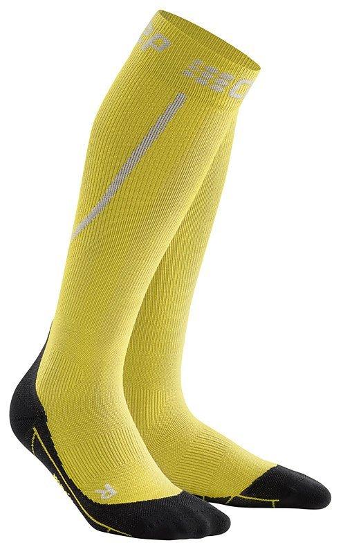 Žluté vysoké běžecké ponožky CEP - univerzální velikost