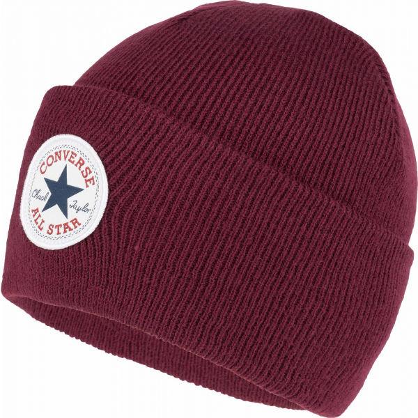 Červená zimní čepice Converse