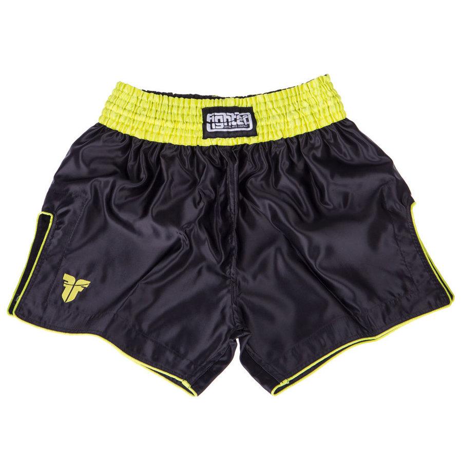 Černo-žluté thaiboxerské trenky Fighter