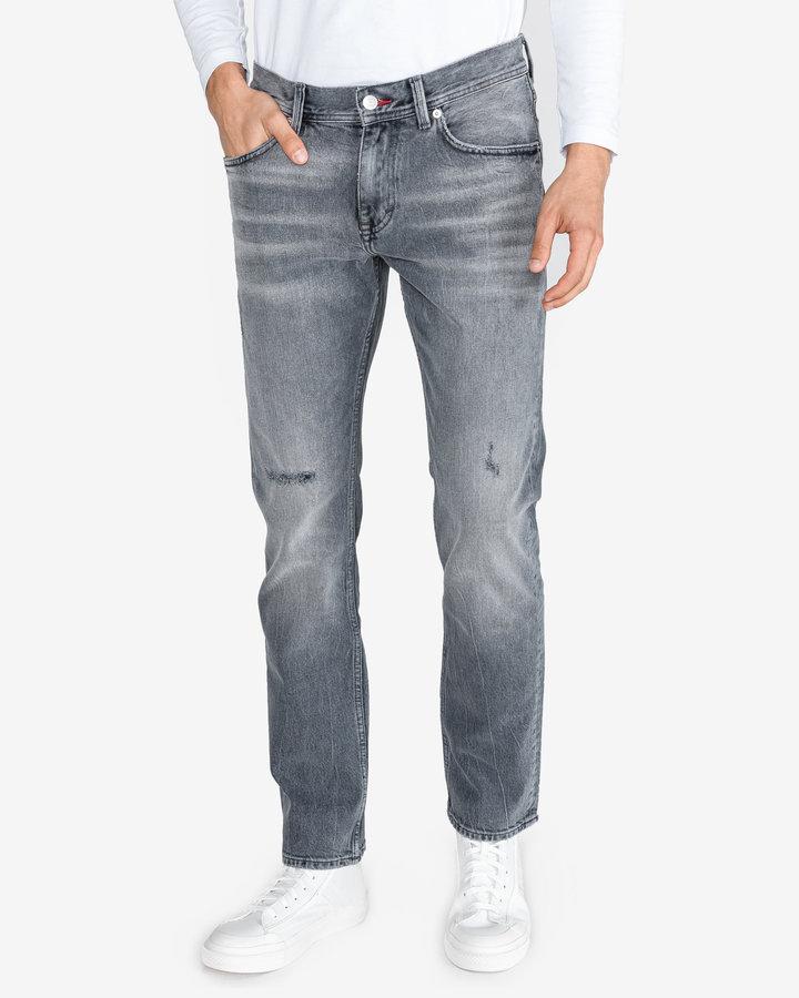 Šedé pánské džíny Tommy Hilfiger - velikost 30