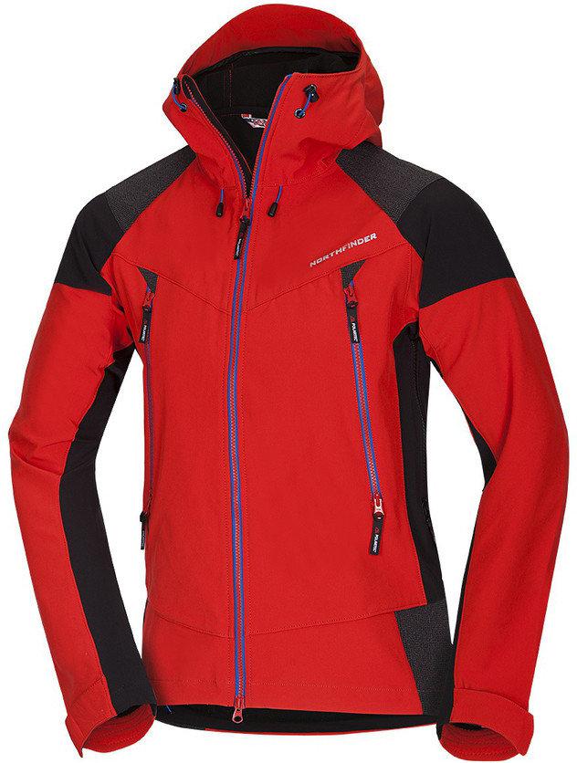 Červená pánská bunda na běžky NorthFinder - velikost XL