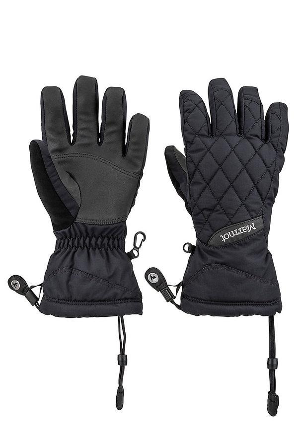 Černé dámské zimní rukavice Marmot - velikost XS