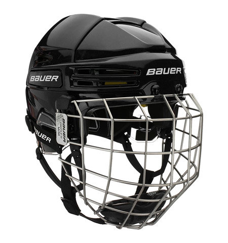 Bílá hokejová helma - senior Re-Akt 75, Bauer - velikost 59-64 cm