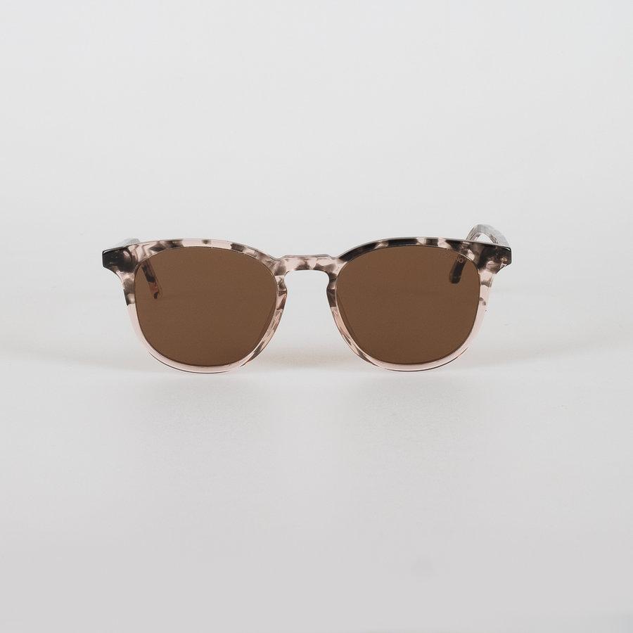 Hnědo-růžová polarizační dámská sluneční brýle Crafted Beaumont Rose Dust, Komono