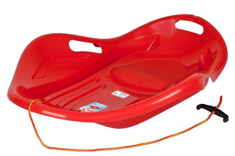 Kluzák - Kluzák na sníh Mušle, červený