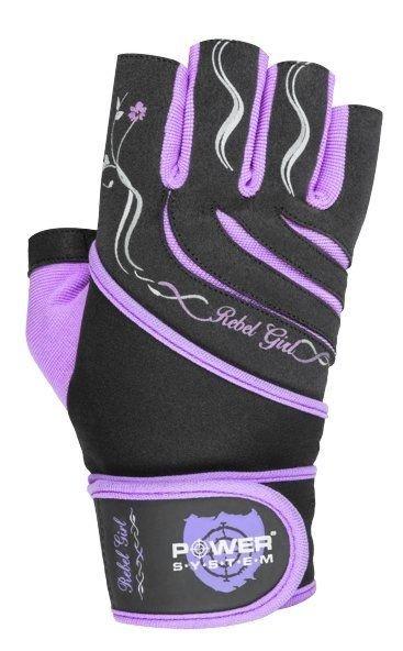 Černo-fialové dámské fitness rukavice Power System