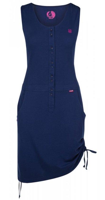 Modré dámské šaty Loap - velikost S