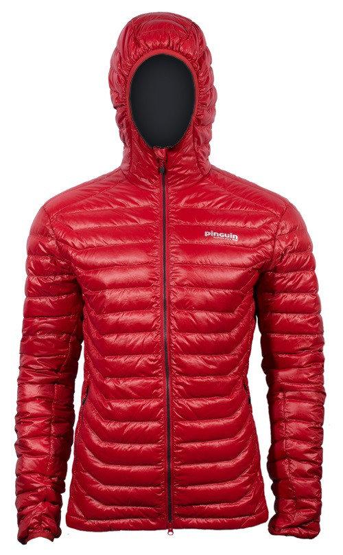 Červená peřová pánská bunda Pinguin - velikost S
