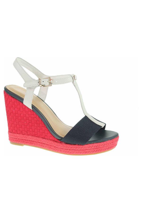 Sandály - FW0FW02249 020 rwb módní dámské sandály, klín vysoký