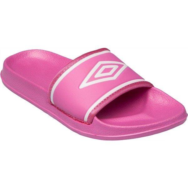 Růžové dívčí pantofle Umbro