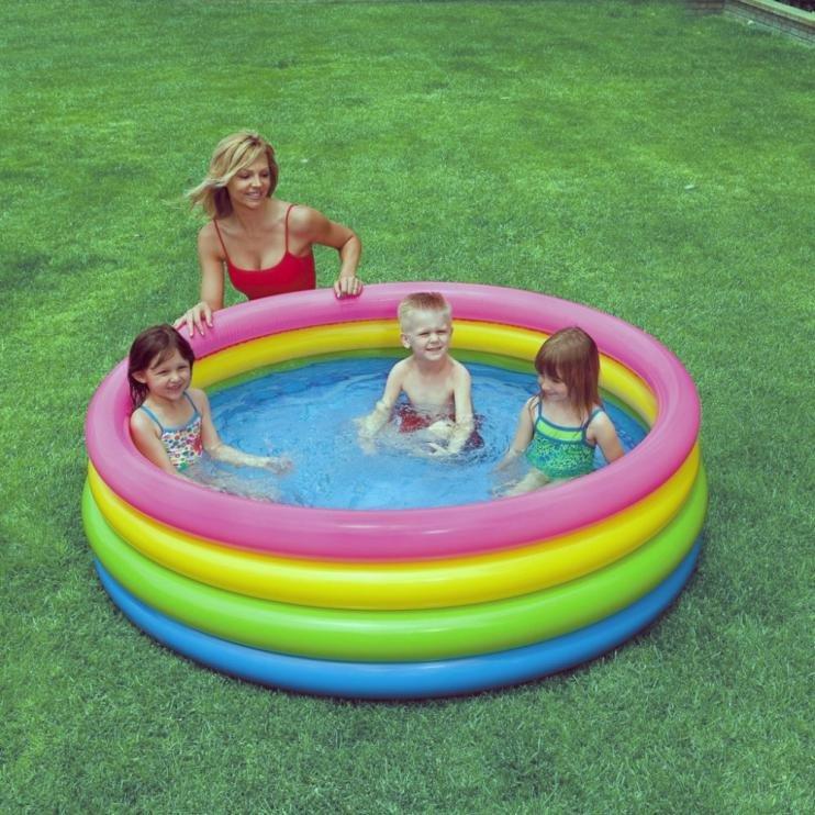 Nadzemní nafukovací dětský kruhový bazén INTEX - průměr 168 cm a výška 46 cm