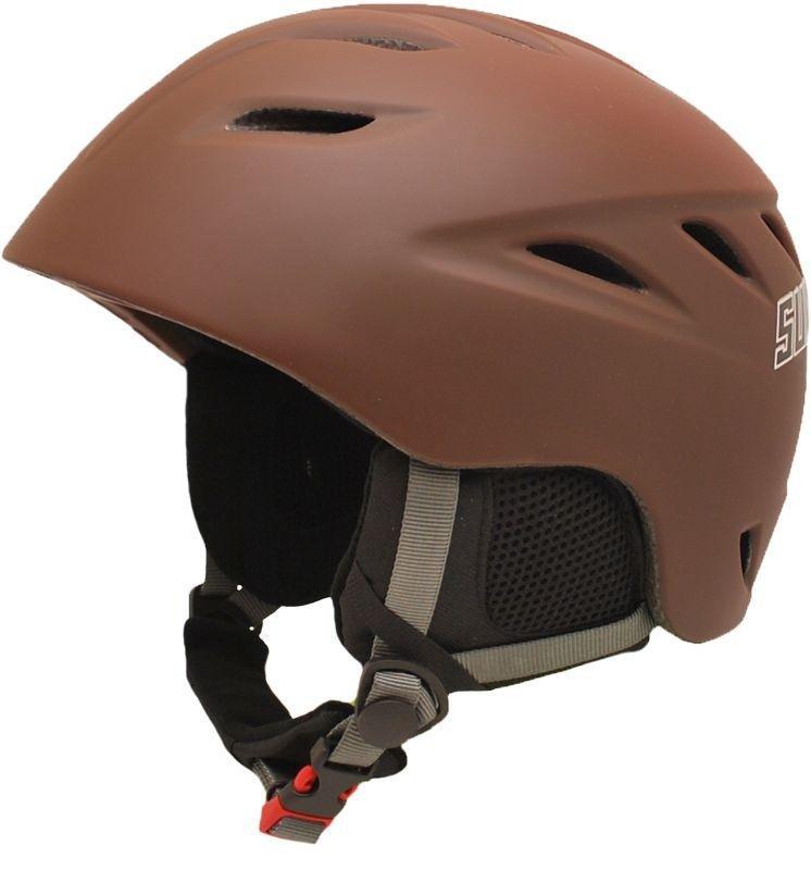 Hnědá lyžařská helma Sulov - velikost 61-62 cm