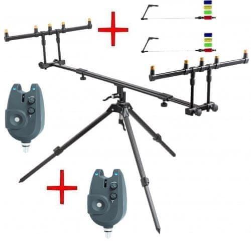 Stojan na pruty - JAF Capture Tripod Capture Accure Pod + ZDARMA 2ks signalizátorů Passion RZ + vahadla