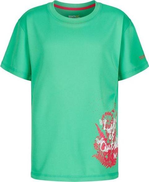 Zelené dívčí tričko s krátkým rukávem Regatta