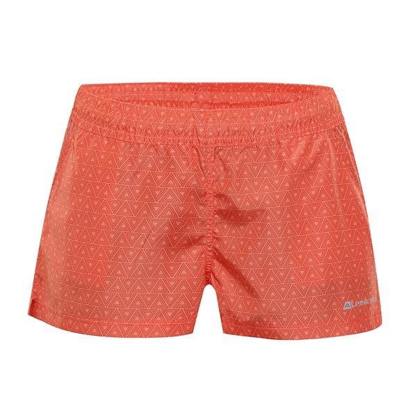 Oranžové sportovní dámské kraťasy Kaela, Alpine Pro - velikost M